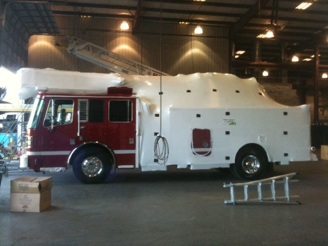 Another Ferrara fire truck wrapped and ready for transport Asset Protection