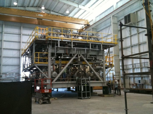 Oil and Gas platform ready to be wrapped