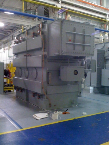 Preparing to wrap industrial equipment for protection
